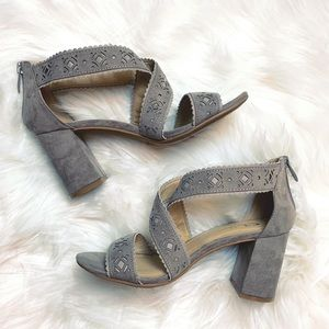 CL by Chinese Laundry Laser Cut Block Heels
